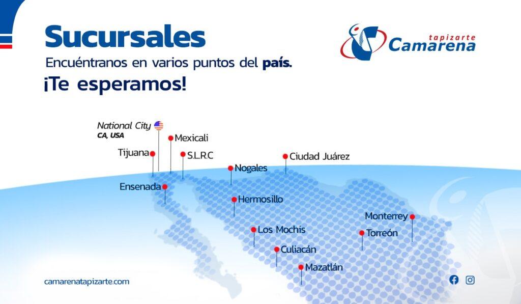 Camarena Tapizarte - Sucursales